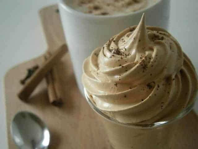 Creme de café de perto